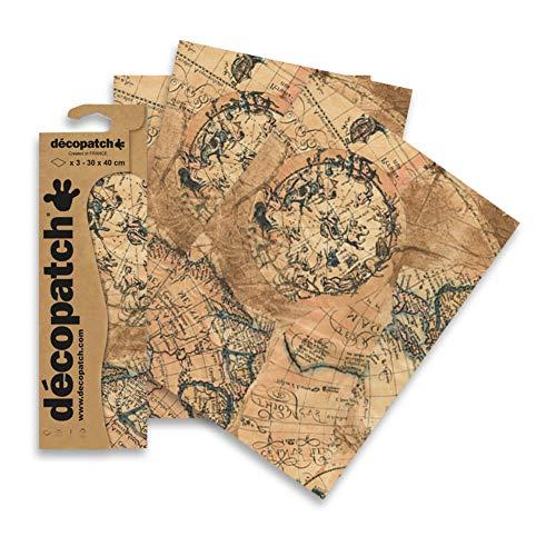 Décopatch C806C Paper Decopatch Papier, mehrfarbig, 30x40cm