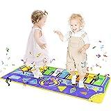 welltop Piano Mat für Kinder Tanzmatten Musikmatte Klaviermatte Keyboard Matten 10 Klaviertasten 8 Instrumente rutschfest Spielteppich für Jungen Mädchen 148x60cm