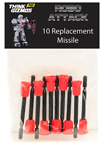 ThinkGizmos RoboAttack by Remote Control Robot - Spare Missiles Only (Pack of 10)