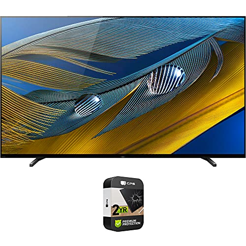 Sony XR55A80J 55-inch A80J 4K OLED Smart TV (2021 Model) Bundle with Premium 2 Year Extended Protection Plan