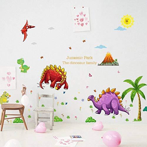 Preisvergleich Produktbild ZXFMT Wandaufkleber Dinosaurier Wandaufkleber Kinderzimmer Wohnkultur Dinosaurier Kinderzimmer Aufkleber Babyzimmer Kinderzimmer Dekor