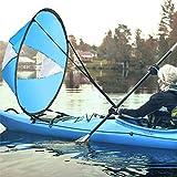 AZX Remo portátil para kayak, de 42 pulgadas, con canoas portátiles, para barcos inflables, kayak, canoas (azul cielo)
