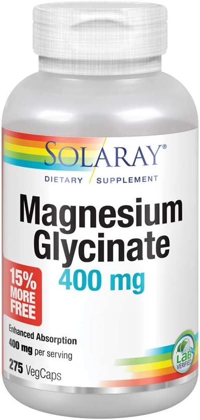 Solaray Magnesium Glycinate 400 mg Over item handling ☆ Sales for sale Bone Healthy Relaxation