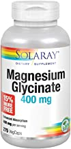 Solaray Magnesium Glycinate 400 mg   Healthy Relaxation, Bone & Cardiovascular Support (275 CT)