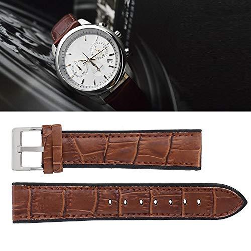 Pbzydu 【𝐏𝐫𝐨𝐦𝐨𝐭𝐢𝐨𝐧 𝐝𝐞 𝐏â𝐪𝐮𝐞𝐬】 Bamboo Grain Watchband, Universal Fashion Ersatz Uhrenarmband Zubehör(Kaffee 22mm)