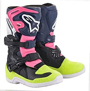 Alpinestars Unisex-Adult Tech 3S Youth Boots Black/Dark Blue/Pink Fluo Sz 07 (Multi, one_size)