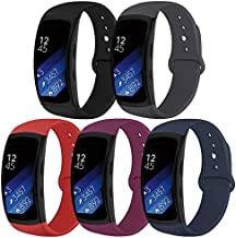 OenFoto Sports Band Compatible Gear Fit2 Pro/ Fit2, Replacement Silicone Accessories Strap Samsung Gear Fit2 Pro SM-R365/ Gear Fit2 SM-R360 Smartwatch-5Pack