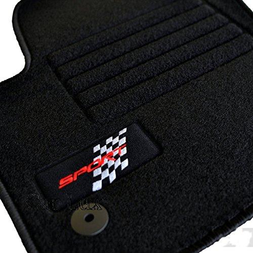 Car Lux Tapis de sol pour Seat Leon 2 1P Sport Noir