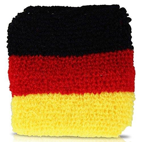 12er Pack Deutschland Schweißband Armband Fan Artikel EM 2016