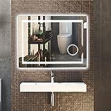 LUVODI Espejo de Baño Pared con Iluminación LED Espejo de Baño Moderno con...