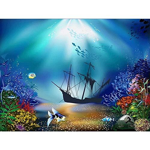 Anritt 5D DIY diamant schilderij kruissteek diamant zinkende boot onder zee mozaïek borduurwerk wooncultuur 30 x 40 cm