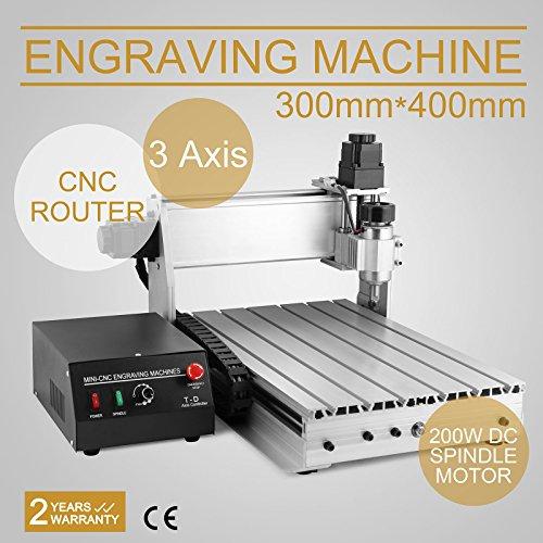 FurMune CNC Fräsmaschine Fräs Graviergerät CNC Router Machine Engraver Machine 3040T 3 Achsigen Einfache Installation Aus Aluminiumlegierung (3040T 3 Achsigen)