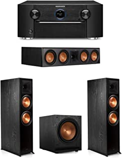 Klipsch 3.1 System with 2 RP-8000F Floorstanding Speakers, 1 Klipsch RP-504C Center Speaker, 1 Klipsch SPL-120 Subwoofer, 1 Marantz SR7012 A/V Receiver