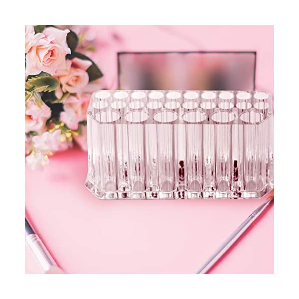 WolinTek Acrylic Eyeliner Lip Liner Holder Organizer Clear Acrylic Lip Liner Makeup Organiser,26 Spaces