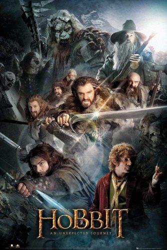 The Hobbit - Collage Eine unerwartete Reise Fantasy Poster Plakat Druck - Grösse 61x91,5 cm
