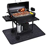 "Fasmov Grill Mat for Gas or Electric Grill - 30"" W x 4'L- Size Extra Large Grill Pad"