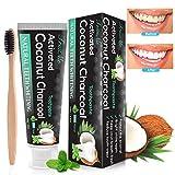 Charbon Dent Blanche, Dentifrice Blanche, Blanchiment Des Dents, Charbon Dent - Dentifrice sans fluorure-Améliore la Santé...