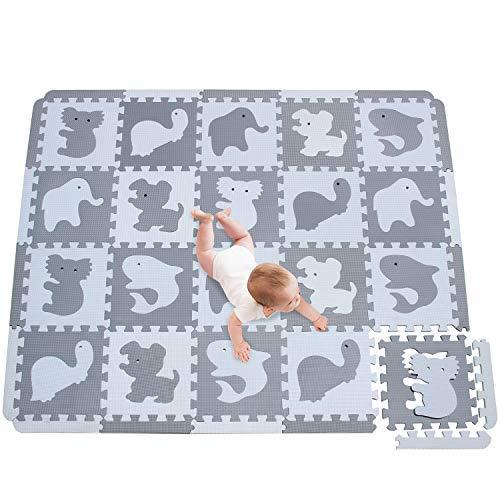 meiqicool Puzzlematte Spielmatte Baby Puzzleteppich Spielmatte Kinder Puzzelmatten Für Babys Puzzle Matte Bodenmatte Kinder Schadstofffrei Kinderspielteppich Krabbelmatte 150 x 122cm P-AL1S18