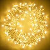Elegear Luces de Navidad 100M, Guirnalda Luces Navidad 500 LEDs IP44 Impermeable Interior o Exterior con 8 Modos, Decorativas para Navidad,Fiestas,Bodas,Dormitorio,Jardines, Bar