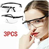 3PCS Safety Protective Goggles, Crystal Clear Eye Protection,Dust-Proof Breathable Laboratory Dustproof Glasses,Splash,Anti-Fog,Medical Surgical Goggles for Unisex Use