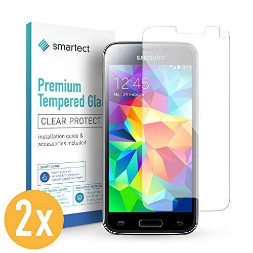 smartect Panzerglas kompatibel mit Samsung Galaxy S5 Mini [2 Stück] - Displayschutz mit 9H Härte - Blasenfreie Schutzfolie - Anti Fingerprint Panzerglasfolie