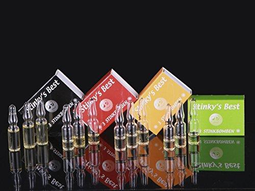 12 Stinkbomben Glasampullen Scherzartikel Stinky's Best