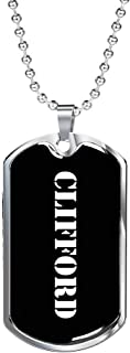 Clifford v2 - Luxury Dog Tag Necklace Personalized Name Father's Day Birthday Gifts Jewelry