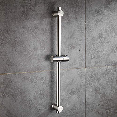 シャワースライドバー 浴室 スライドバー 304ステンレ製長さ100cm ヘアライン 調節可能なハンドシャワーウォールマウント (1000mm)