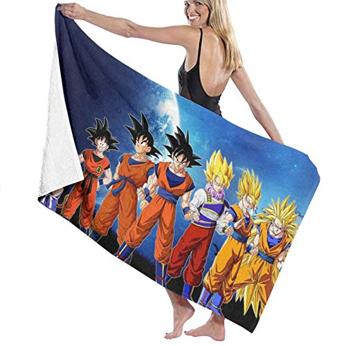 Dragon_Ball Z Toalla de playa grande de microfibra toalla de baño de playa súper absorbente de secado rápido toallas de playa toalla de playa de gran tamaño para crucero al aire libre piscina regalos