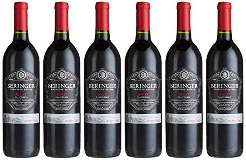 Beringer Founders' Estate Merlot 2017 Kalifornien Wein trocken (6 x 0.75 l)