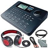 Alesis SR-16 16-Bit Stereo Drum Machine and Deluxe Bundle w/Headphones, Cables and Fibertique Cloth