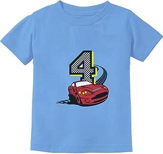 Tstars - 4th Birthday 4 Year Old Boy Race Car Party Toddler Kids T-Shirt