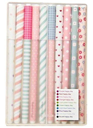 Katara Gelschreiber / 10 verschiedene Farben in einer Box