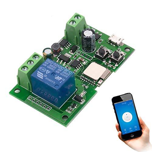 Newgoal WiFi Jog Relay Interruptor momentáneo/autobloqueante Módulo de bricolaje Automatización inteligente del hogar eWeLink APP Control compatible Alexa/Google Assistant/IFTTT (ST-DC1)