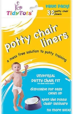 TidyTots Disposable Potty Chair Liners - Value Pack - Universal Potty Chair Fit (fits most potty chairs) - 32 Liners from The Cumberland Companies LLC