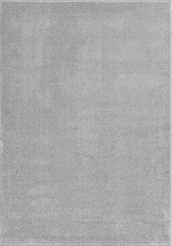 Mia´s Teppiche Emma - Alfombra de salón, Pelo Corto, 17 mm, 80 x 150 cm, Polipropileno, Gris, 17 cm