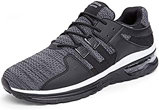 BAOLESEM Men's Lightweight Running Shoes Air Cushion Breathable Sneakers Knit Comfortable Walking Shoes