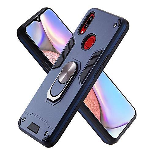 Hülle für Samsung Galaxy A10S mit Standfunktion, PC + TPU Rüstung Defender Ganzkörperschutz Hard Bumper Silikon Handyhülle stossfest Schutzhülle Case (Königsblau)