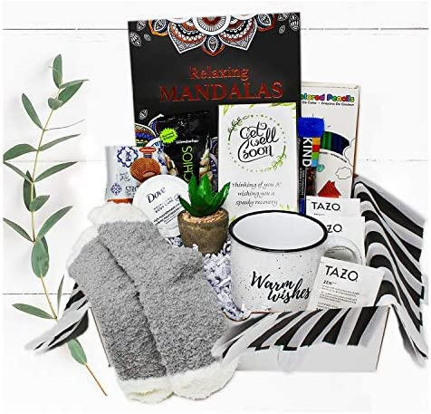 Get Well Soon Gift Basket Care Package for Women Surgery Recovery covid w Snacks Feel Better product image