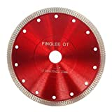 FINGLEE DT 7 Inch Super Thin Diamond Saw Blade for Porcelain Tile Ceramic,Diamond Cutting Blade,with 7/8'(22.23 mm) 4/5'(20 mm) 5/8'(16 mm) Arbor (7'/180mm)