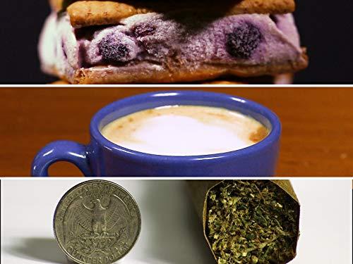 Cannabis Gefrorener Joghurt Sandwiches, Cannabis Espresso Macchiato, 10g Großer Junge Mega Blunt