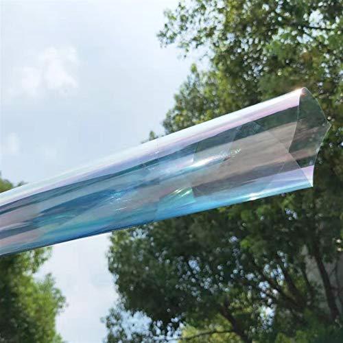 jidan Sichtschutz Dekoration Fensterfolie Fensterfolie Fensteraufkleber Glas Tönungsfolie 65% VLT Glänzend Chamäleon Folie Farbwechsel Baufenster Tönungsaufkleber Solar Schutzfolie