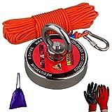 Mutuactor N52 Neodym Magnet Super Kraftvolle 150KG Zugkraft, Kraftvoller Magnet Mit 20M Robustem Seil, Buy Wholesale Kraftvoller Magnet Im Spiel Magnetisches Fischen
