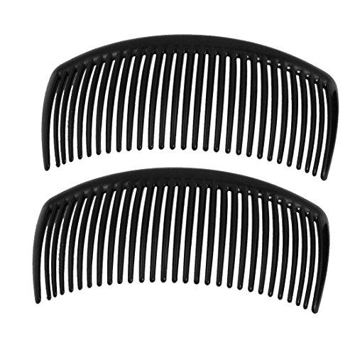 Romote 2 pcs peigne en plastique noir pince à cheveux pince pour les dames