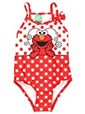 Sesame Street Elmo Girls Swimwear Swimsuit (4T, Red)