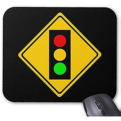 Stoplight Ahead Mauspad 30 * 25 * 0,3 cm Mauspad Fashion Designed Mousepad Büro- und Familien-Desktop-Pad