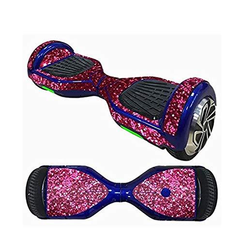 PHLPS Etiqueta engomada de la scooter del tablero de equilibrio Pegatina de hoverboard, compatible con la piel con la tabla de equilibrio de la tabla de flores, la cubierta protectora de la calcomanía