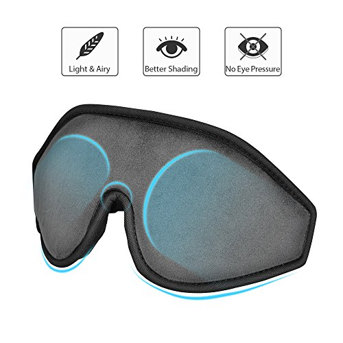 Sleep Mask - Lightweight & Comfortable Eye Mask - Blindfold Eye Shield with Ear Plugs,Travel Pouch -...