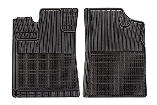 CarFashion 280248 Tapis de Sol pour Voiture sans Support Monza - Allwetter, Noir, 2-Parties