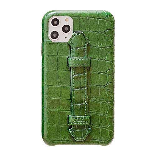 Suhctup Coque Compatible pour iPhone 11 Rétro PU Cuir Cover Housse avec Fonction de Support [ 3D Emboss Crocodile Motif Texture Leather ] Ultra Fine A